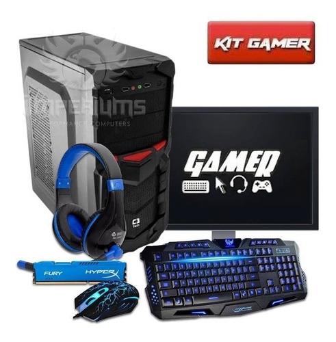 pc gamer core i5 3.2ghz 8gb 1tb gtx1050 ti 4gb c/ kit!