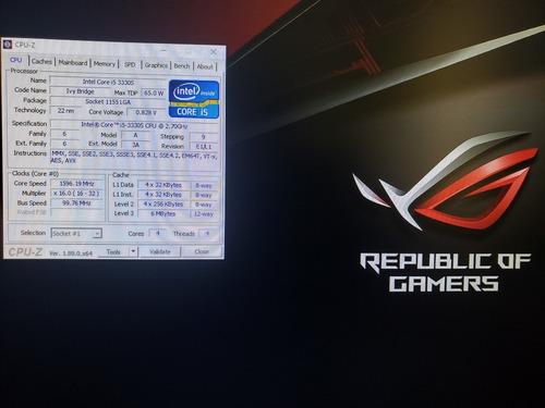 pc gamer / core i5 3330/ 16gb / ssd120gb / hd1tb /gtx 1050ti