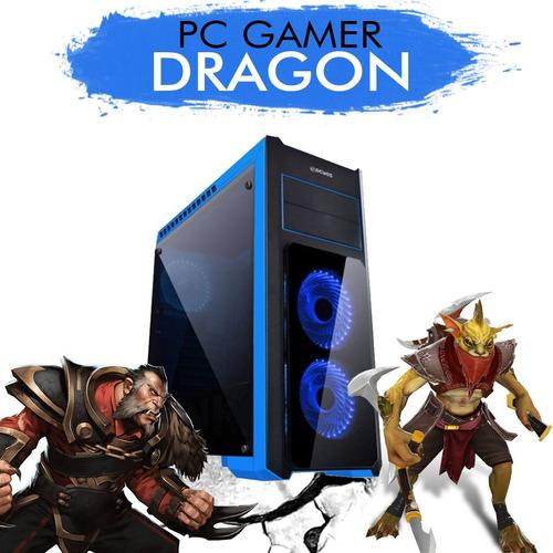 pc gamer core i5-7400 gtx 1050ti 4gb 1tb 8gb ram + nfe