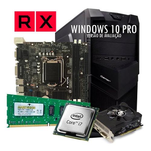 pc gamer core i7 2600, rx 550 2 gb, hd 500 gb, 8 gb +brinde