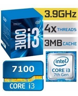 pc gamer cpu i3 7100, 8gb ddr4, hd 1tb, gtx 1050 2gb