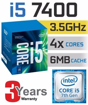 pc gamer cpu i5 7400, 8gb ddr4, ssd 240gb, gtx 1050 2gb