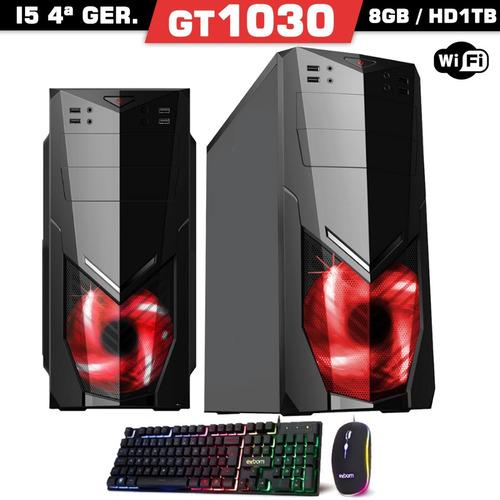 pc gamer cpu i5 gt 1030 8gb hd 1tb + placa de video