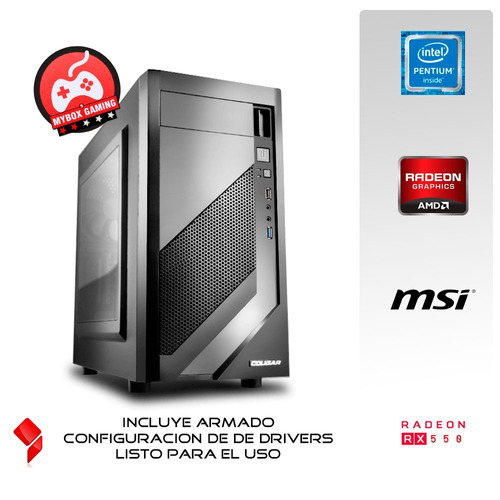 pc gamer dual core ht g4560 3.5ghz - 8gb 2133mhz - rx 550 4g