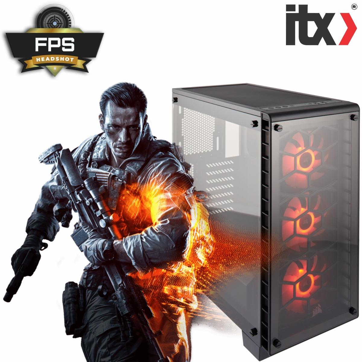 Pc Gamer Fps Headshot I7 7700 Gtx1060 6gb 16gb 1tb+optane