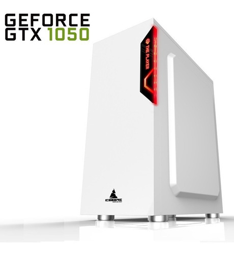 pc gamer glacius one - gtx 1050 + intel, 8gb, 1tb + fortnite