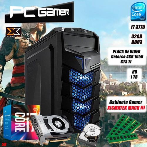pc gamer i7 3770, 32gb, hd 1tb, geforce 4gb 1050 gtx ti + nf