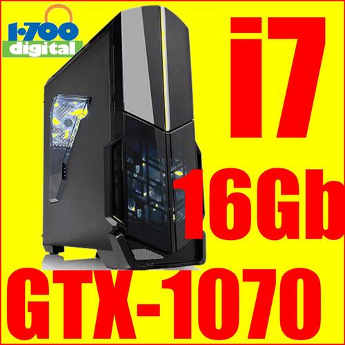 pc gamer i7 6700,16gb ram, gtx1070 8gb, diseño ing render i5