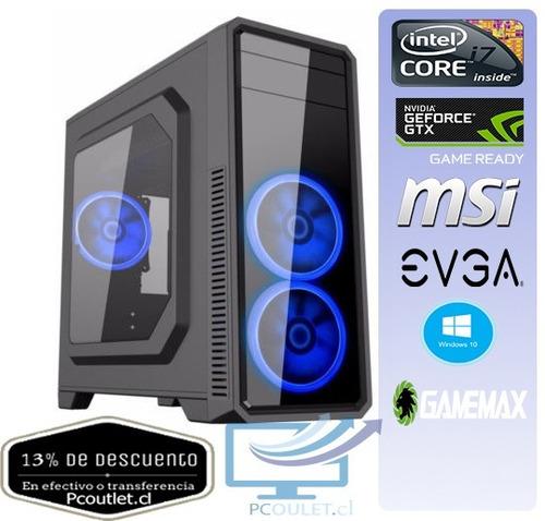 pc gamer i7/gtx 1060/650watts/pack gaming
