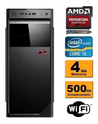 pc gamer intel core i5 4gb 500gb wifi 2gb radeon wifi