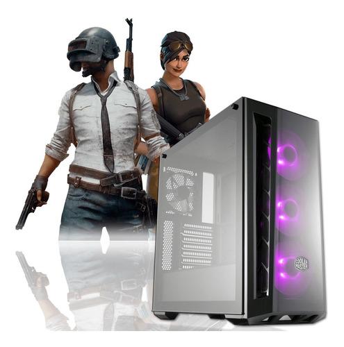 pc gamer intel i3 9100f + 16gb fury + 480gb + rgb + rx 570