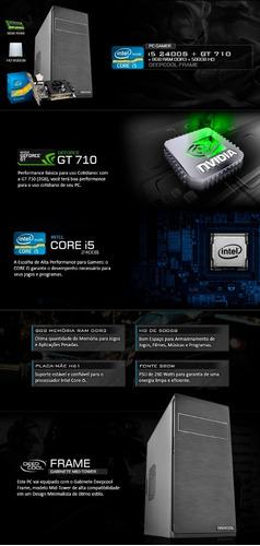 pc gamer intel i5 3.3 ghz, geforce 2gb 710 gt,  8gb, hd 500