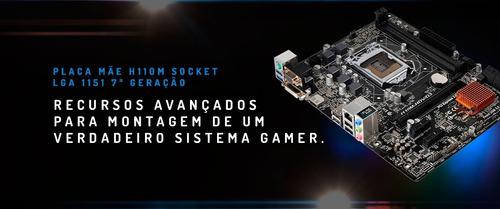 pc gamer intel i5 7400 geforce gtx 1060 6gb, ram 8gb ddr4