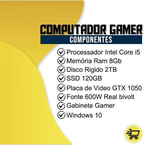 pc gamer maximus i5 gtx 1650 8gb hd 1tb ssd 240gb wi-fi