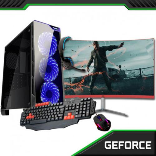 pc gamer + monitor 23.8 curvo core i5 7400 8gb hd1tb gtx1050