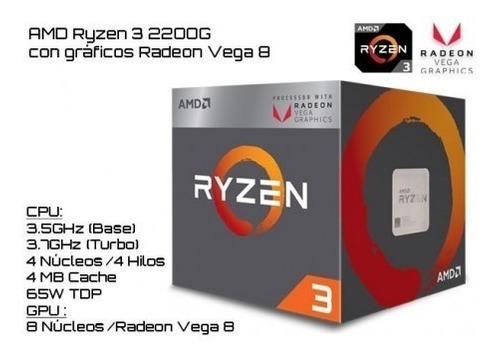 pc gamer nuevos ryzen 3 2200 - gtx 1050 8gb ram 12 cuotas
