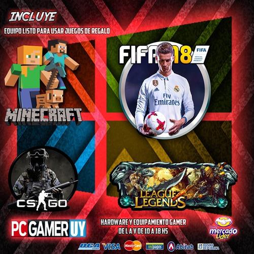 pc gamer nvidia gtx1050 8gb ddr4 intel 1tb led pcgamer-uy