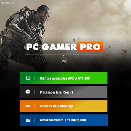 pc gamer pro i3 7100 - 8gb ram ddr4 nvidia gtx 1050