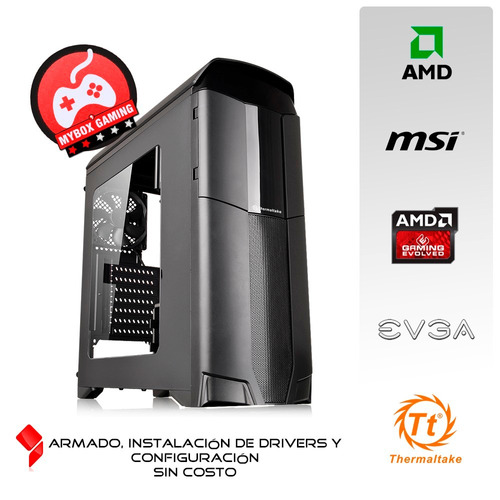 pc gamer quad core video rx 460 4gb corre juegos 2017