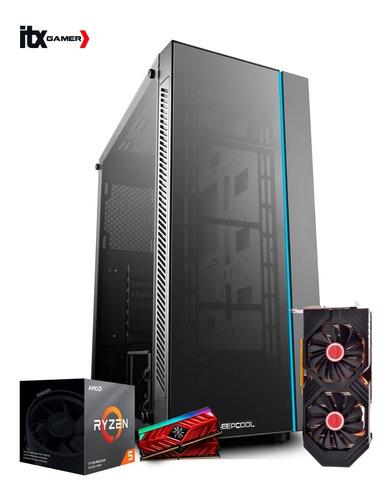 pc gamer ryzen 5 3600x asus b450m rx580 8gb ram 16gb ssd480