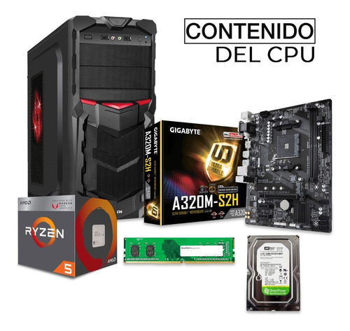 pc gamer xtreme amd ryzen 5 2400g 8gb 1tb radeon vega 11