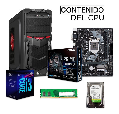 pc gamer xtreme intel i3 8100 8gb 1tb video graficos hd 630