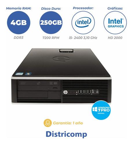 pc hp 6200sff i5-2400 4gb/250gb win7 + parlante de regalo