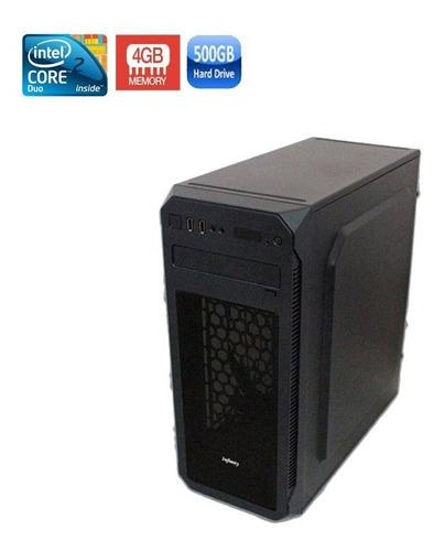 pc intel core 2 duo 4gb hd 500gb + wi-fi