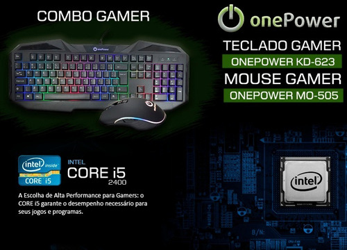 pc intel core i5 3.4 ghz, 16gb, hd 1tb, kit gamer + nfe