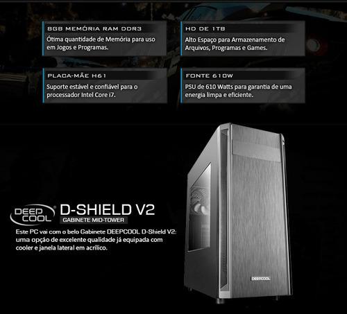 pc intel core i7 3.80 ghz, hd 1tb, 8gb ram,  promoção