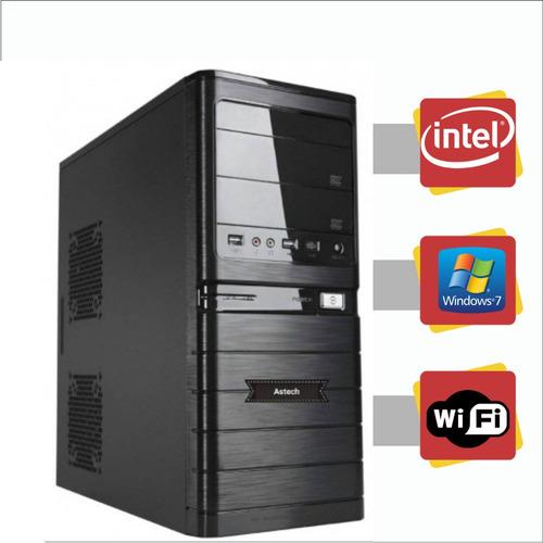 pc intel dual core 4gb hd 250gb windows 7 com wi-fi+ tecald