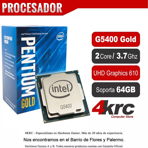 pc intel pentium g5400 gold 8va gen 4gb ddr4 hd 1tb ó ssd240