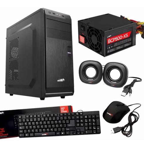 pc intel pentium gabinete sentey c/teclado, mouse, parlantes