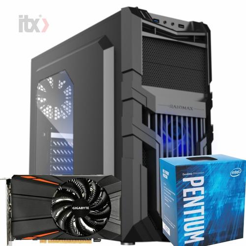 pc itx gamer k45 standard pentium g4560 geforce gtx 1050 2gb