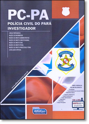 pc pa policia civil do para investigador 01ed 16 de equipe a