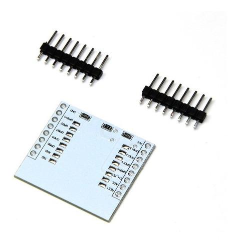 pcb adaptador para módulo wifi esp-07 esp-08 esp-12e gpio