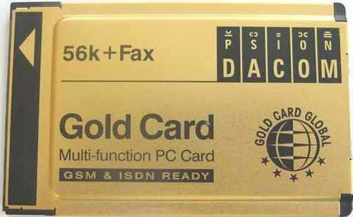 pcmcia modem psion dacom goldcard 56k + fax
