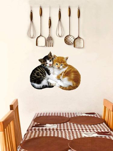 pcs removable d cartoon animal cats pvc wall stickers ...