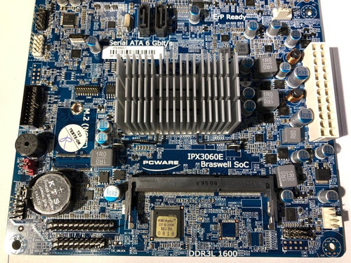 pcware placa mãe ipx3060e1 itx hdmi dual core 2.48g j3060