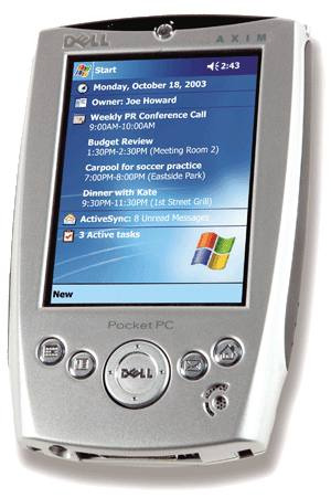 pda dell axim x5 400mhz word excel ranura sd cf no ipaq palm