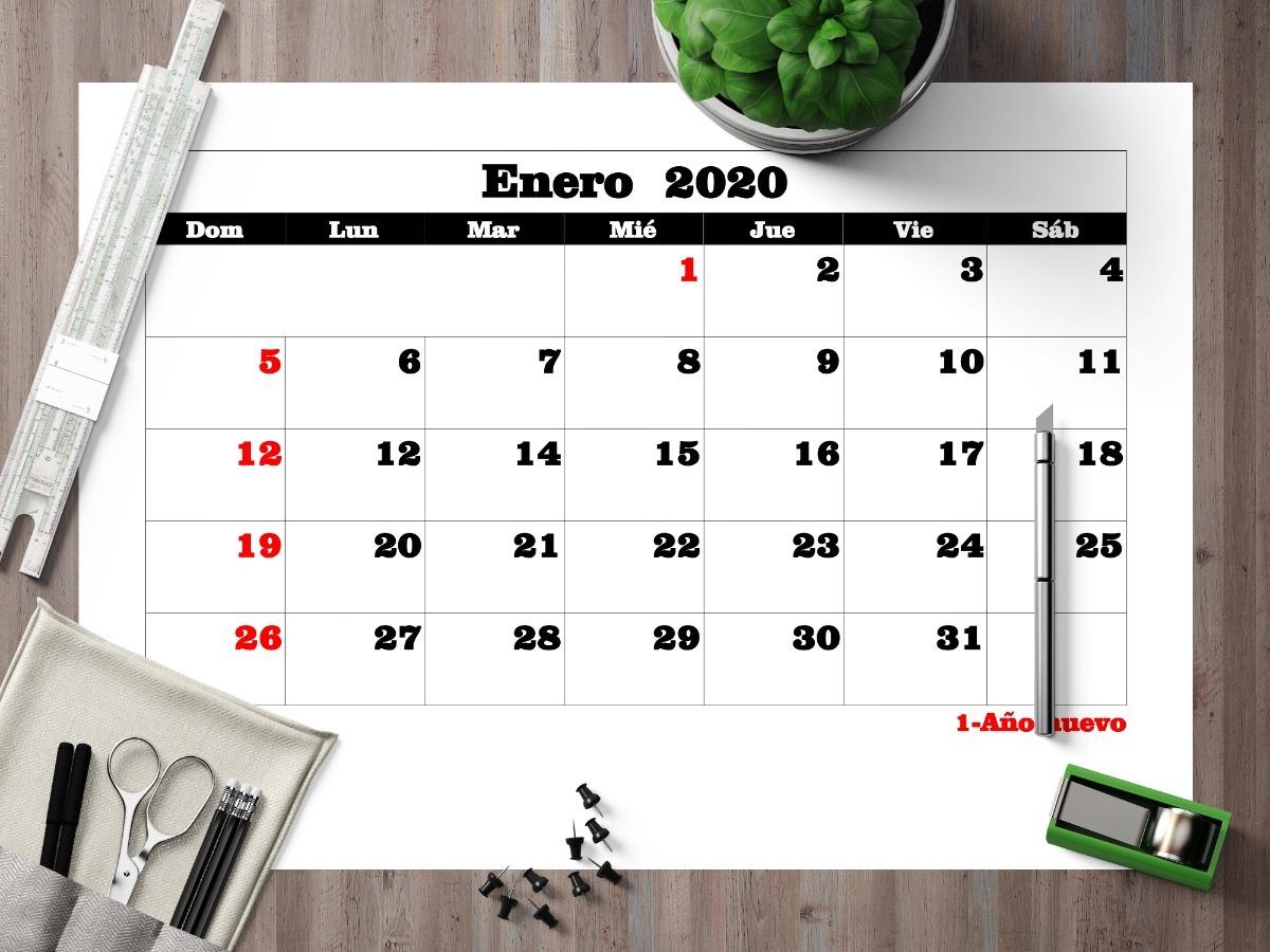 Calendario 2020 Argentina Para Imprimir Pdf.Pdf Calendario 2020 Mensual Con Feriados En A4 Para Imprimir