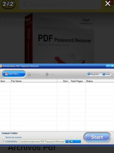 pdf password remover 1.5.3 desbloqueo contraseña  y más
