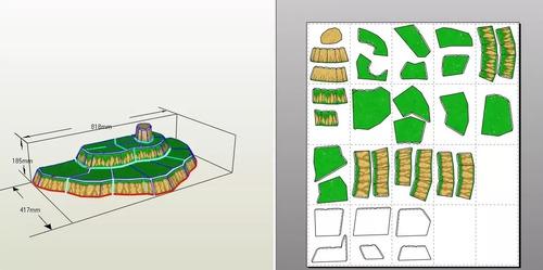 pdf proyecto papercraft 6 muñecos dragon ball z goku