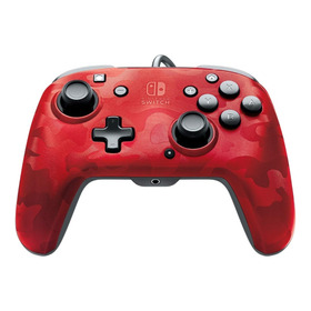 Pdp Control Pro Faceoff Audio Wired Rojo Nintendo Switch