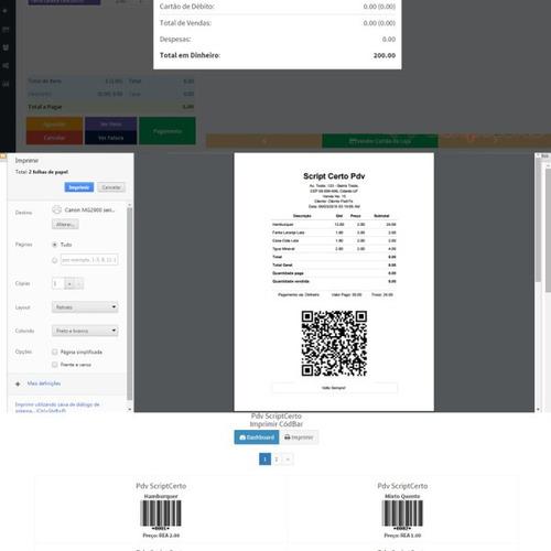 pdv controle de estoque, c/ financeiro e vendas script php