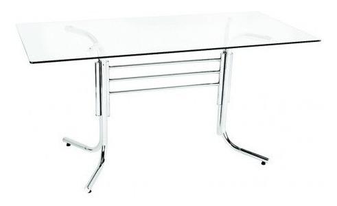 pé base de mesa veneza aço cromado - flape
