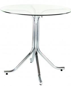 pé base para mesa veneto cromada madeira ou vidro flape