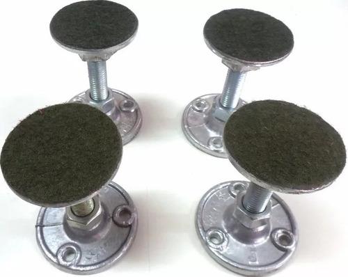 pé nivelador p/ mesas de sinuca bilhar pebolim 4 pçs