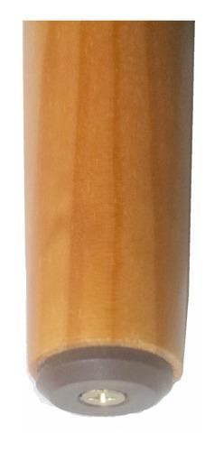 pé palito de madeira mel para sofás, puffs, 1 pé - 34cm
