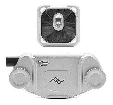 peak design capture camera clip v3 con placa